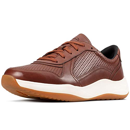 Clarks Sift Speed, Zapatillas Hombre, Marrón (British Tan Lea British Tan Lea), 43 EU