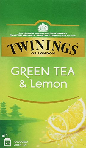 Twinings Of London Té Green Tea & Lemon - 3 Paquete de 25 Bolsitas