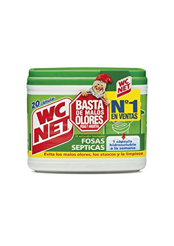 Wc Net Fosa Septica Wc Net Fosas Septicas 20 Capsulas x 18 g, Multicolor