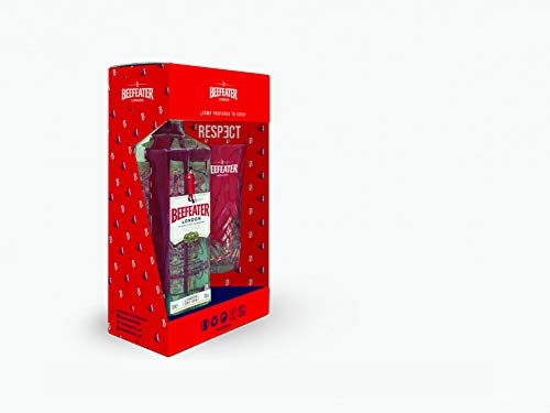 Beefeater London Dry Gin pack regalo con vaso - 700 ml