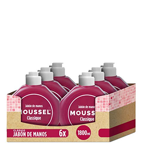 Moussel - Jabón de manos, 300 ml - [Pack de 6]
