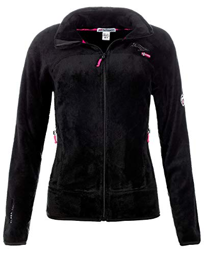 Geographical Norway Chaqueta de forro polar para mujer Negro L