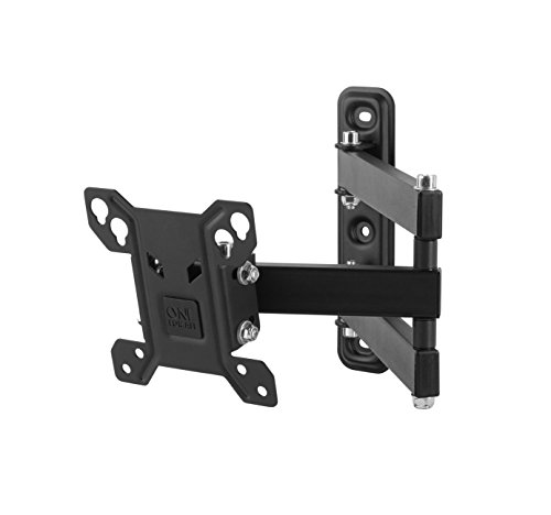 "One For All WM2151, Soporte de pared para TV de 13 a 27"" Giratorio 180° Peso máx. 30kg, Para todo tipo de TVs LED, LCD, Plasma, negro"