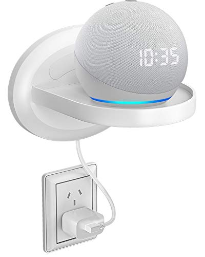 Bovon Estante de Pared Pequeña, Estante Mural para Echo Dot 3, Sonos, Google WiFi, Altavoces de Casa Inteligente y Movil, Organizador para Arreglo Cable de Cualquier Dispositivo de hasta 15 Libras