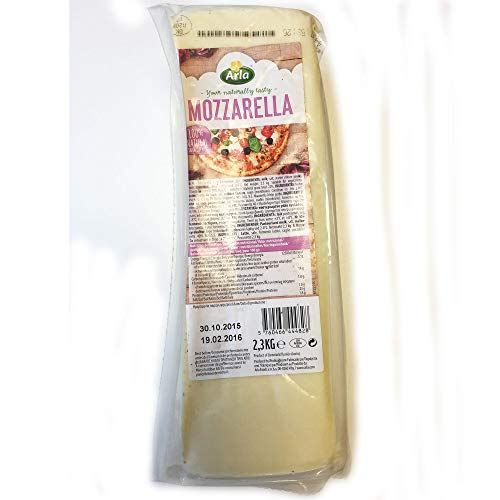Arla Mozzarella Cheese Block - Pack Size = 1x2.3kg