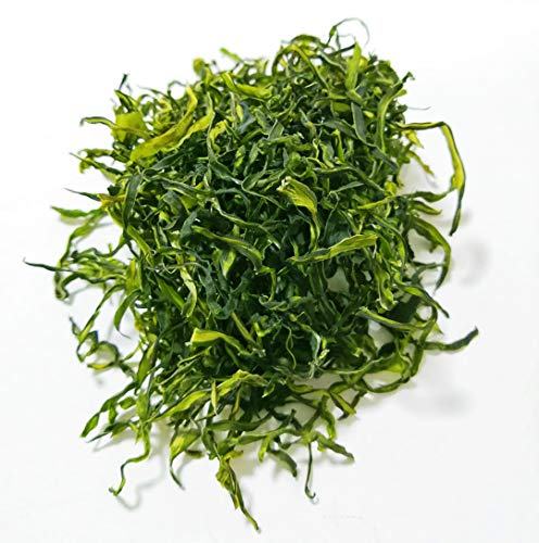 Dried Wakame Stalk,sea cabbage,sea mustard For Salad,Tallo de wakame seco, col mar, mostaza de mar para ensalada 200g (pack of 1)