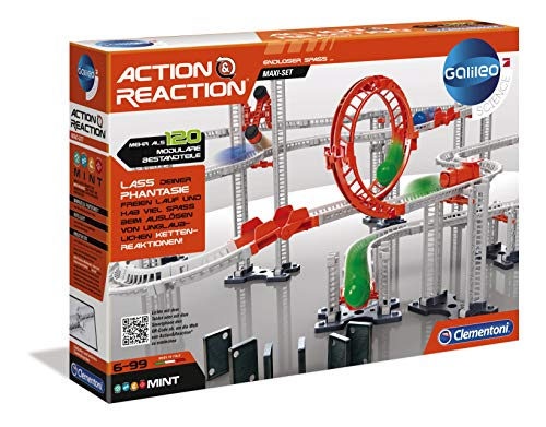 Clementoni  - Ciencia y Juego Action & Reaction Crazy Dominó (59126) , color/modelo surtido