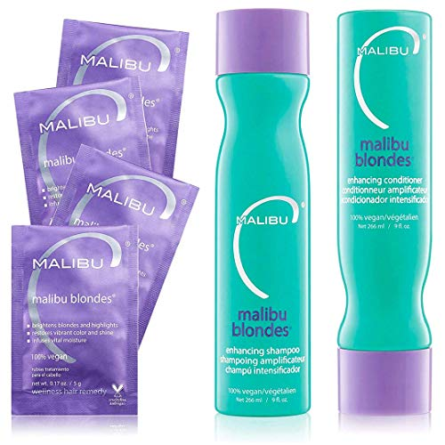 Malibu c Blondes Wellness Kit Shampoo and Conditioner - Plus Weekly Brightener by Malibu