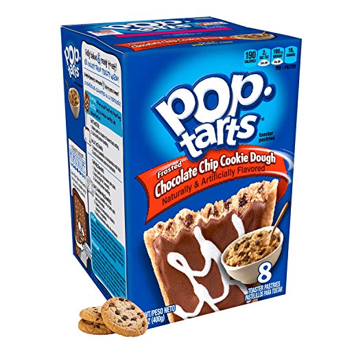 Kellogg's Frosted Chocolate Chip Cookie Dough Pop Tarts 400g