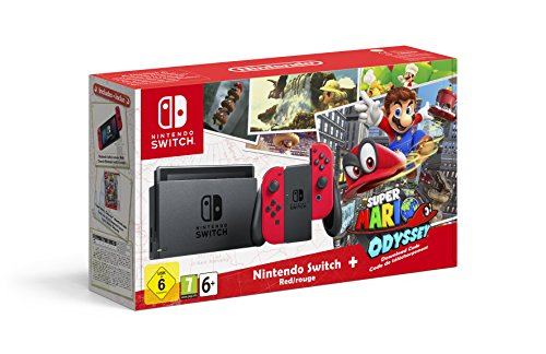 Nintendo Switch - Consola + Super Mario Odyssey Bundle (Código Descarga)