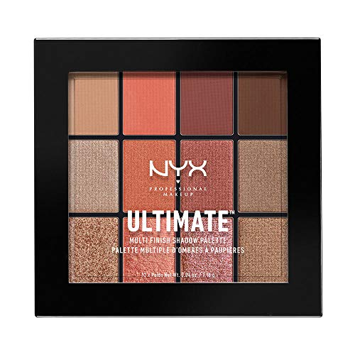 NYX PROFESSIONAL MAKEUP Paleta de sombras de ojos Ultimate Multi-Finish Shadow Palette Tono 8 Warm Rust Color Multicolor