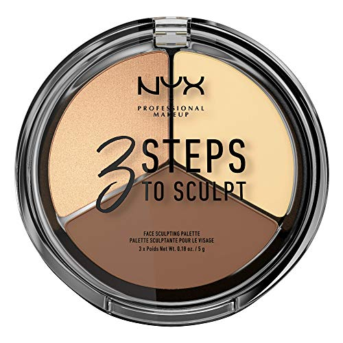 NYX Professional Makeup Paleta de Contouring & Iluminador 3 Steps to Sculpt Face Sculpting Palette tono 2 Light color Beige