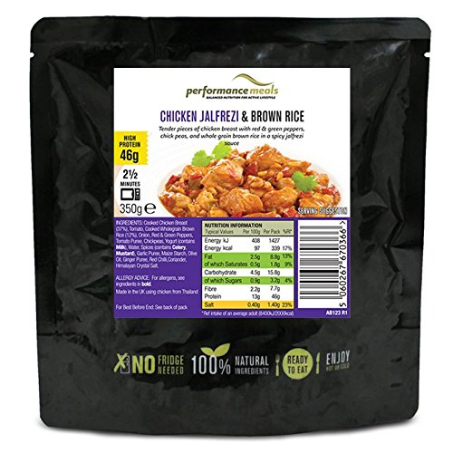 Pollo Tikka Masala con arroz integral 350g de Natural Performance Meals Pollo Tikka Masala y arroz integral