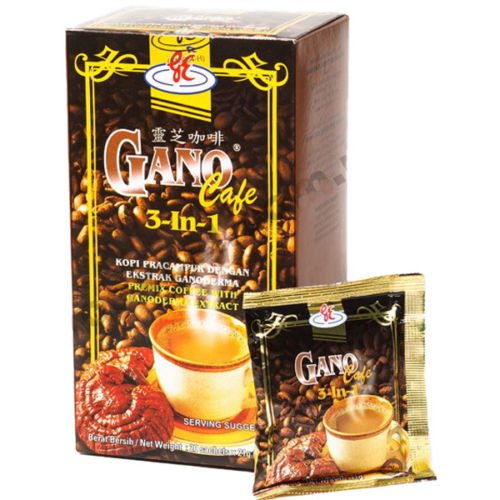 1 box of Gano Excel Original Ganocafe 3-in-1 Coffee Ganoderma Extract Beverages by Gano
