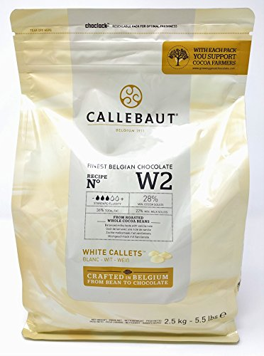 Callebaut N° W2 (28%) - Chocolate Blanco Belga - Finest Belgian White Chocolate (Callets) 2,5kg