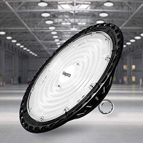 200W UFO LED Lámpara Alta Bahía, bapro Delgada 20000LM Lámpara Industrial, IP65 Focos Led Interior Techo 6500K,Led Iluminación Comercial Leds Floodlight para Fábricas, Aeropuerto, Patio, Restaurante