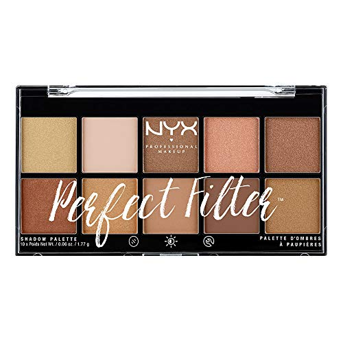 NYX Professional Makeup Paleta de sombras de ojos Perfect Filter Shadow Palette Tono 1 Golden Hour Color Multicolor