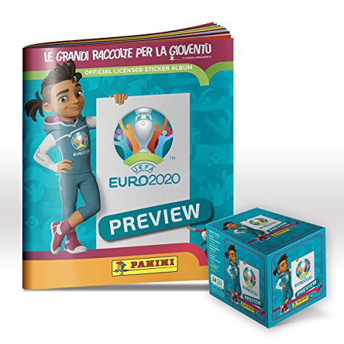 Panini UEFA Euro 2020 Official Preview Sticker Collection Super Starter Pack [Album + BOX DA 60 Bustine]