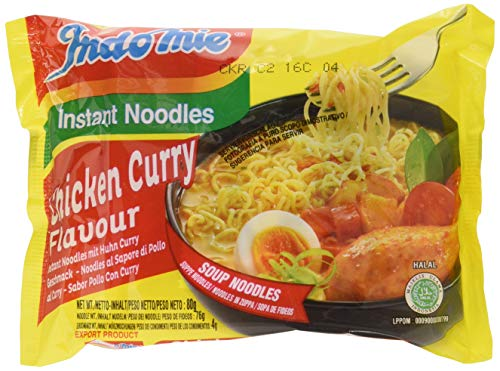 Indomie Fideos Instantáneos, Curry Pollo - 40 Paquetes