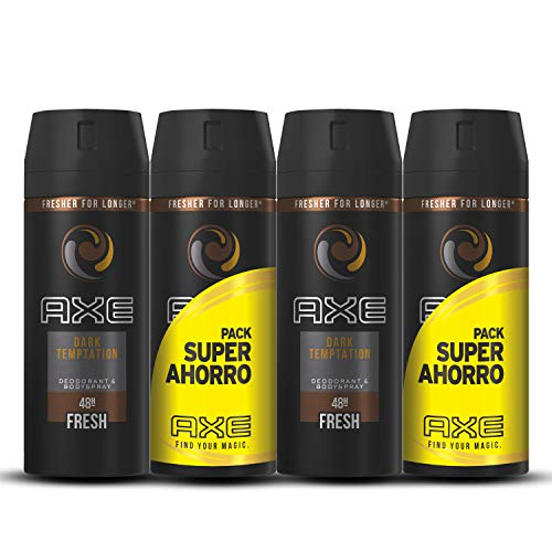 Axe Dark Temptation Pack Duplo Ahorro - 2 Paquetes de 2 x 150 ml (Total: 600 ml)