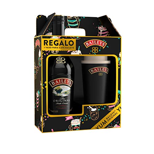 Baileys Irish Cream, Pack con vaso para café de regalo - 700 ml