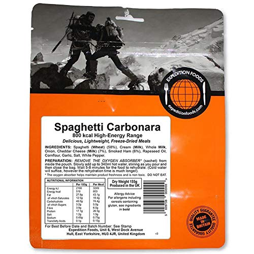 Expedition Foods High Energy Serving Pasta Carbonara - Orange by