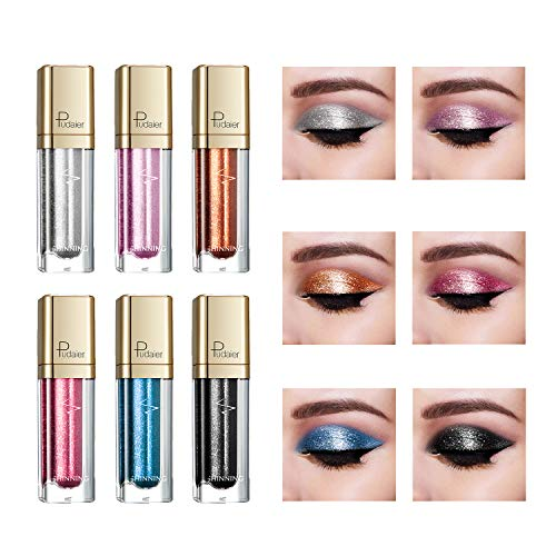 Diamond Liquid Eyeliner Set, 9 Pcs Glitter Shimmer Colored Eyeliner Pencil Waterproof Metallic Sparkling Liquid Eyeshadow (02)