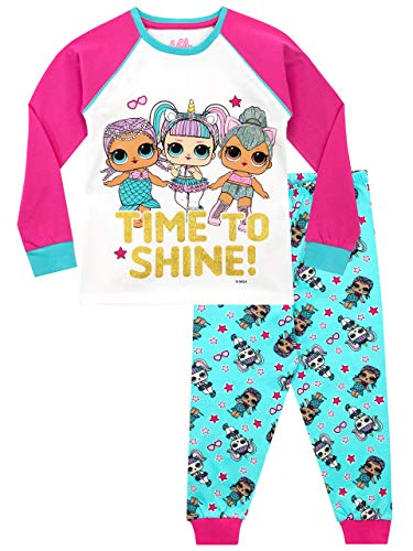 LOL Surprise Pijamas de Manga Corta para Niñas Dolls Multicolor 7-8 Años