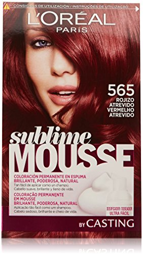 L'Oréal Paris Sublime Mousse Coloración Permanente, Tono: 565 Rojizo Atrevido