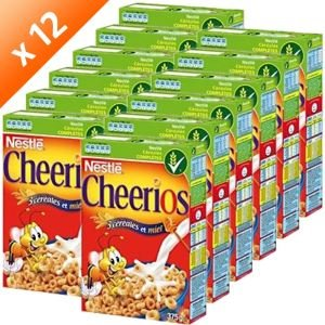 Nestle cereales Cheerios 375 g x12
