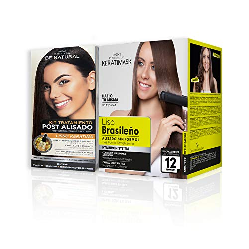 Pack Be Natural, Alisado Brasileño Keratimask + Post Alisado Liso Keratina.