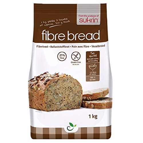 Sukrin Sunflower and Pumpkin Seed Low Carb Free-From Bread Mix. Low Fat, Low Calorie, Dairy, Yeast, Soya, Sugar, Wheat and Gluten Free, Great Taste! (1kg)