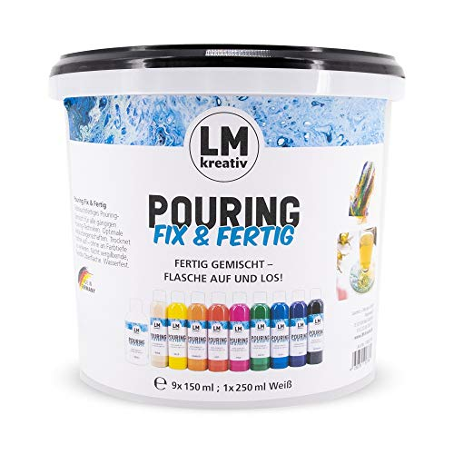 LM Pouring Fix & terminado Set 10 piezas - Basic – Mezcla de colores – Color de fundición, medio, pudddle, Dirty, Flip Cup