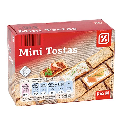 DIA mini tosta normal paquete 100 gr
