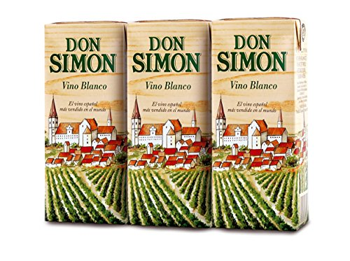 Vino Don Simon - Brik Blanco 187 ML, Paquete de 3