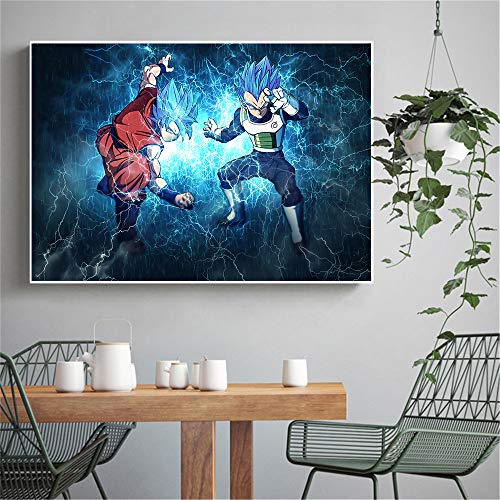 tzxdbh Anime Cartoon Abstract Canvas Poster HD Prints Room Wall Goku Paintings for Living Room Decor Cuadros-in Painting & Calligraphy Group Sin Marco 40x60 CM