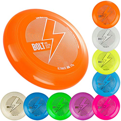 BOLT OneSevenFive Ultimate Frisbee Flying Disc! Â¡Cinco Colores UV Disponibles! (Glow)