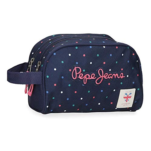 Neceser Pepe Jeans Molly Doble Compartimento Adaptable