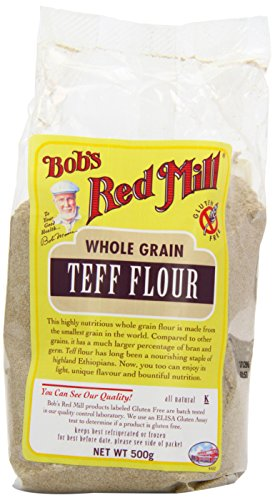 Bobs Red Mill Gluten Free Teff Flour 500 g (order 4 for retail outer)